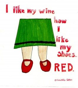 i like my wine red shoes 2